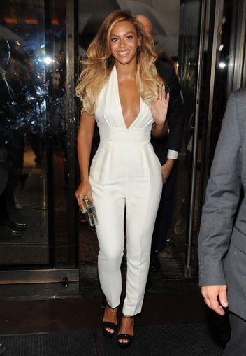 Gucci's Pearl White Silk Cady Jumpsuit